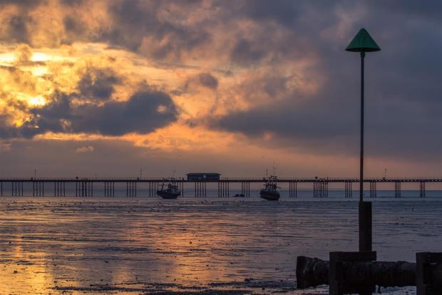 Sunset over southend