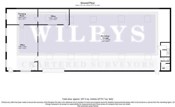 Floorplan  Unit 5 , Shawfield Road, Carlton, Barnsley