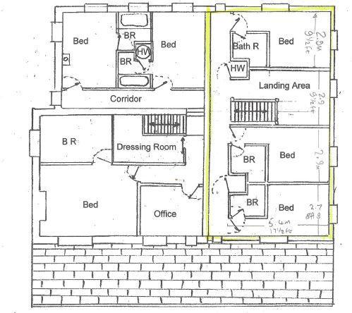Highlighted area indicates Hazel Cottage