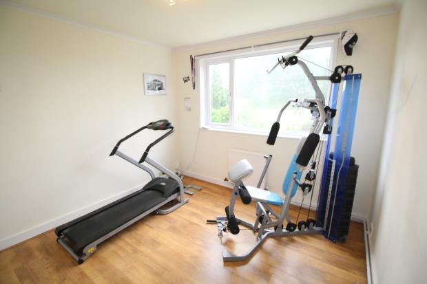 Bedroom used as gym