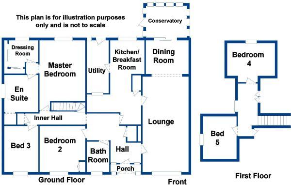 Floor Plan. 5 bedroom detached bungalow for sale in Buckland Dinham  Frome  BA11