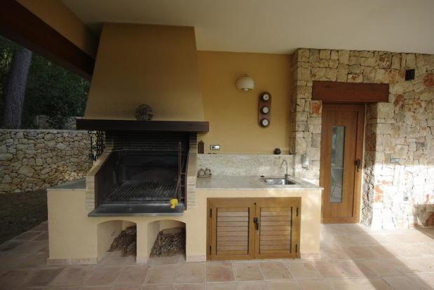 Luxury Villa in Benissa, barbecue