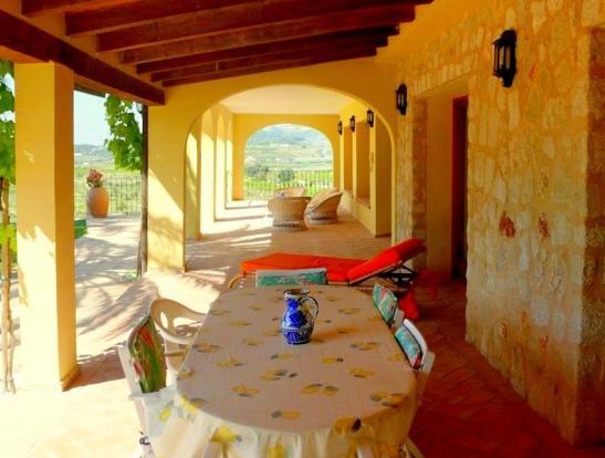 Luxury Finca in Moraira, terrace