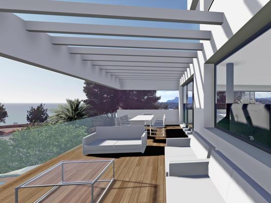 First Line Luxury Villa in Moraira, Terrace