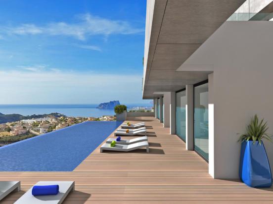 Luxury Apartment in Cumbre del Sol, Terrace