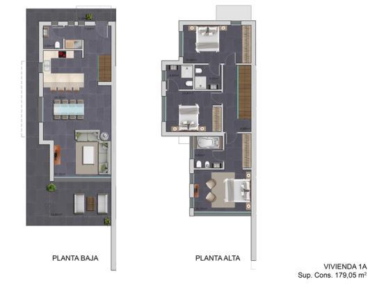 Luxury Semi-Detached in Moraira, Plan