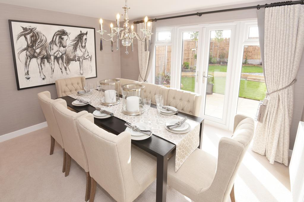 Poets Meadow Lichfield Show Home Dining Room