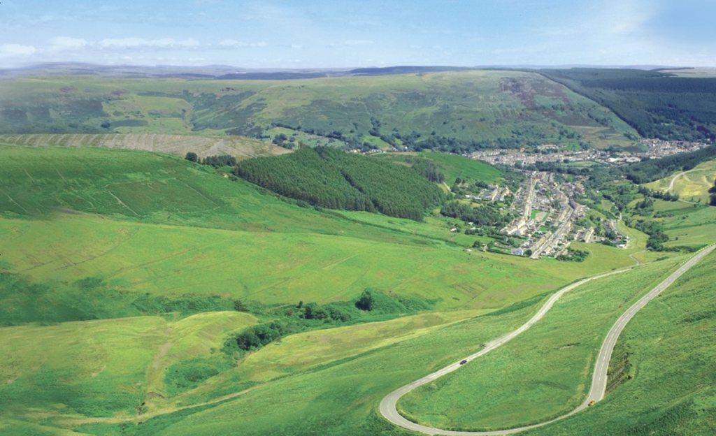 Views over Pontypridd