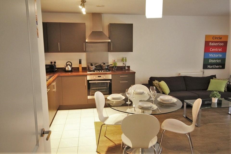 Open-Plan Modern Kitchen