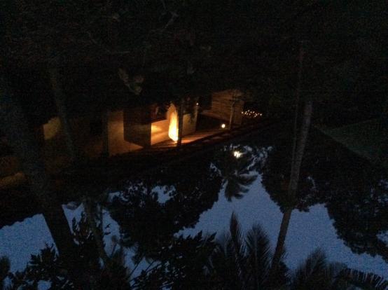Bangalow at night