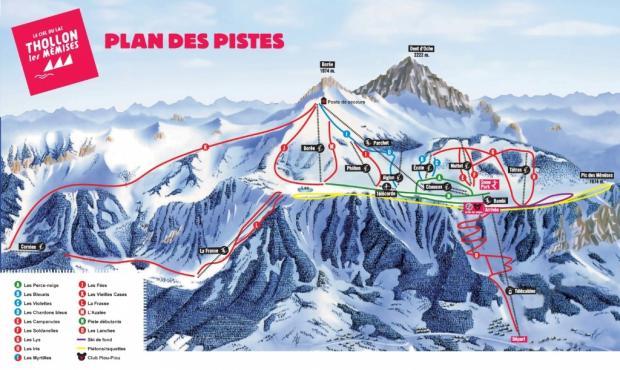ski map Thollon