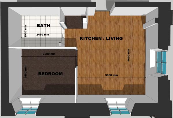 Flat 2 Floor Plan
