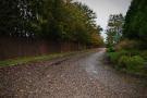 View down the gravel driveway