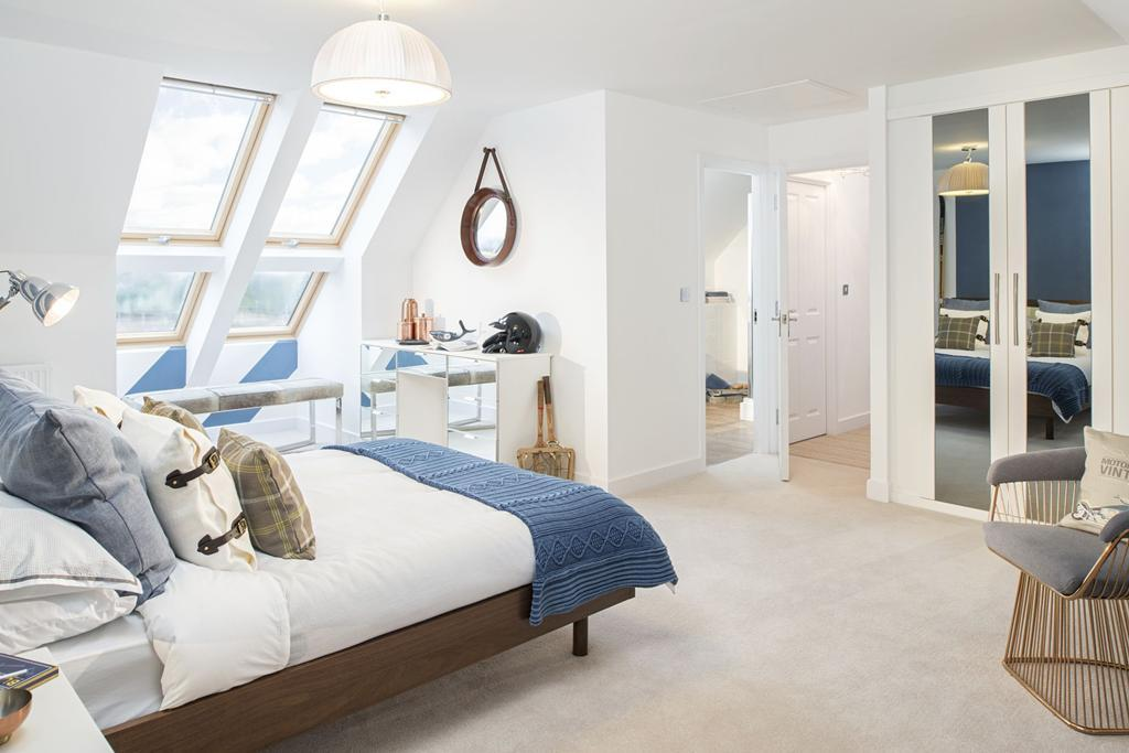 Brightly-lit bedrooms