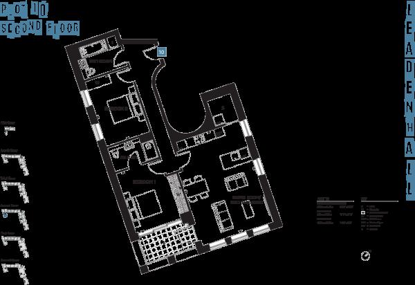 Floorplan Apt 10