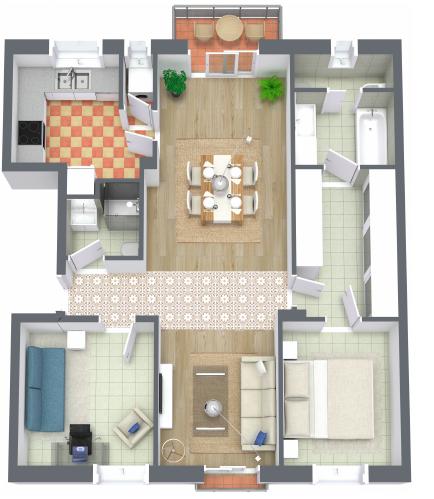 Floorplan interior