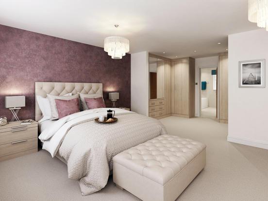 4 bedroom detached house for sale in fulbeck lane morpeth for Dressing area in bedroom