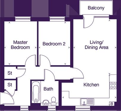 Corston House - Apartment C floor plan