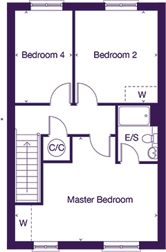 Gladstone second floor plan