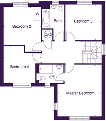 Littlecote first floor plan