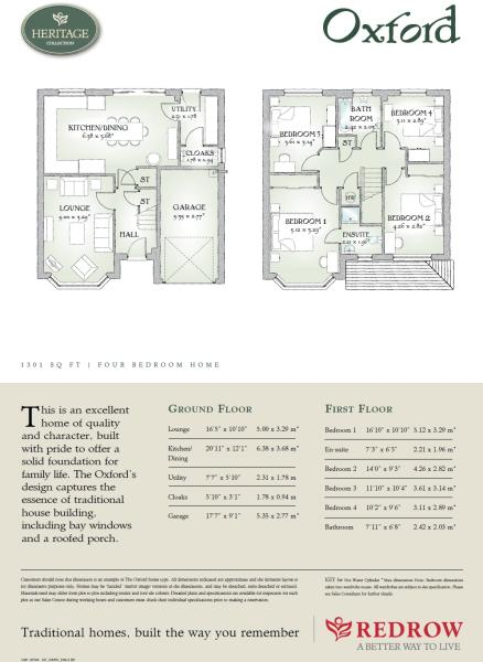 4 bedroom detached house for sale in kimpton road luton for Oxford floor plan