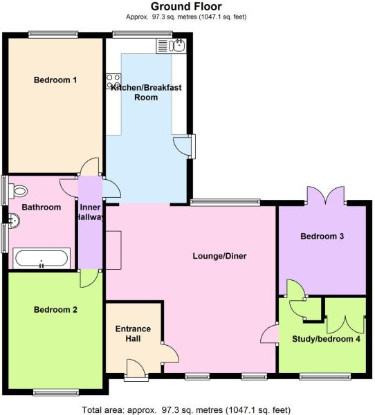 3 bedroom detached bungalow for sale in hollyfast lane for 16 brookers lane floor plans