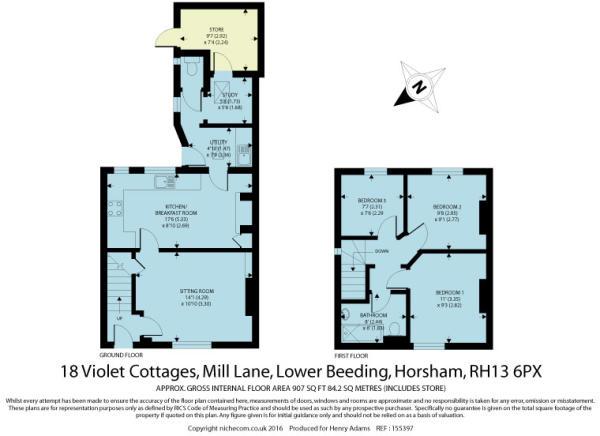 3 bedroom semi detached house for sale in violet cottages for 16 brookers lane floor plans