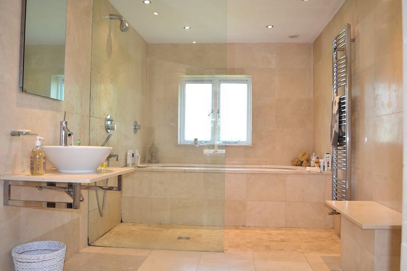 photo of beige bathroom ensuite ensuite bathroom shower and bat