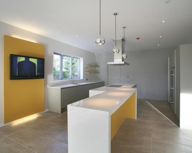 Orange feature wall design ideas photos inspiration for Kitchen feature wall ideas