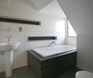 photo of black white bathroom ensuite ensuite bathroom