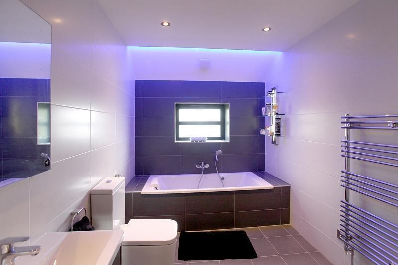 lilac white family bathroom design ideas photos