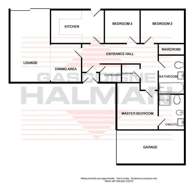 3 bedroom bungalow for sale in belfry drive tytherington for L shaped house plans uk