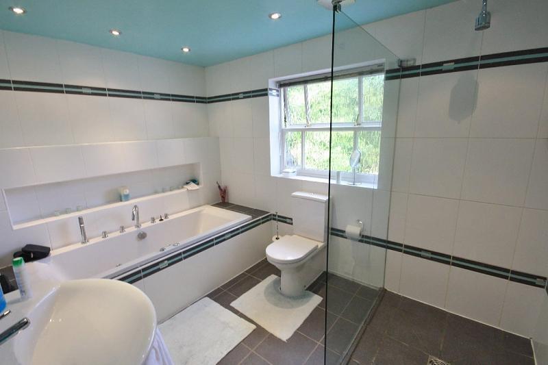 Beige Blue Family Bathroom Design Ideas Photos
