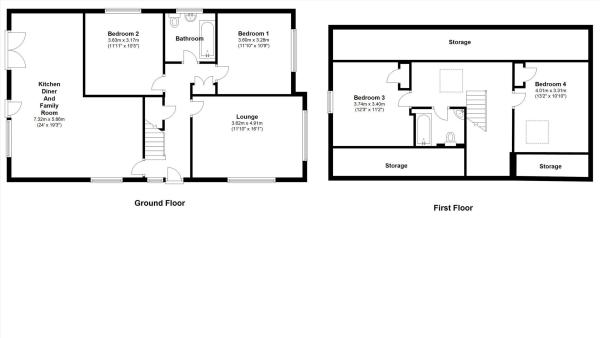 4 bedroom bungalow for sale in sizergh road bare for Chalet bungalow floor plans uk