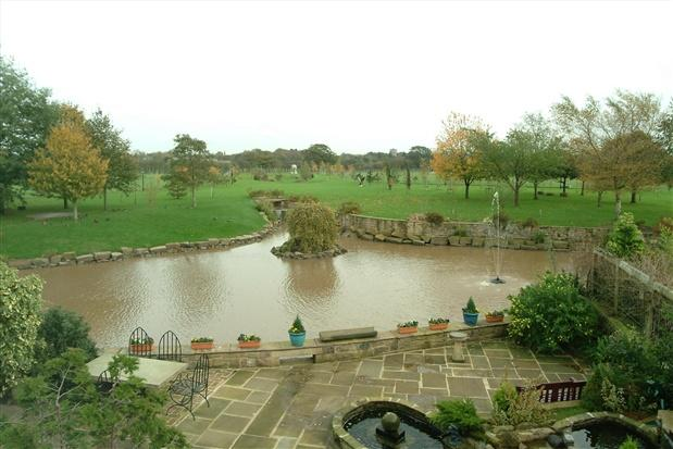 ornamental lake and grounds
