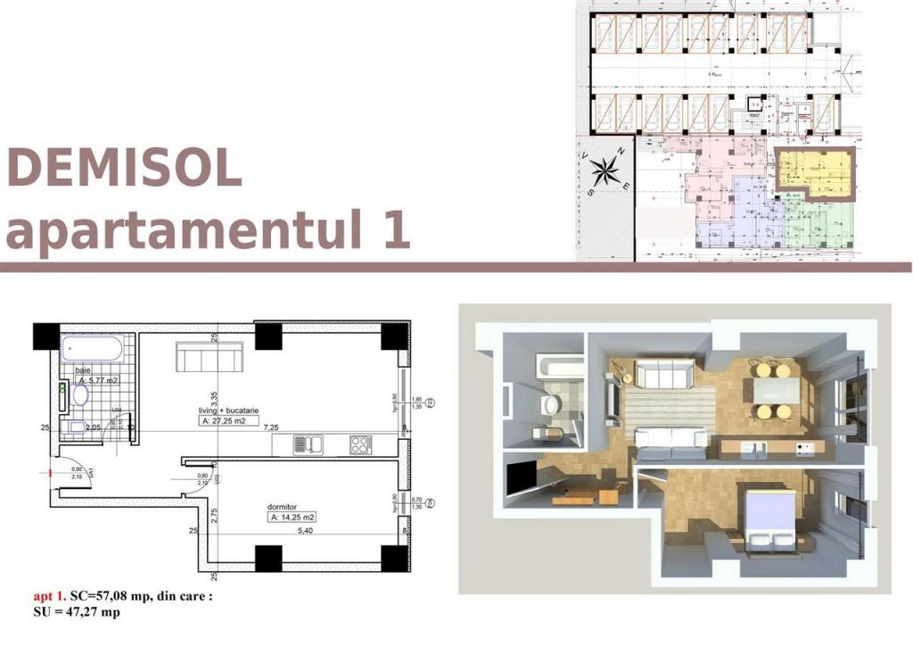 Flat for sale in Arges, Pitesti