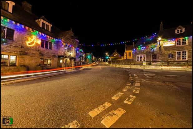 Corfe at Christmas by Gareth James
