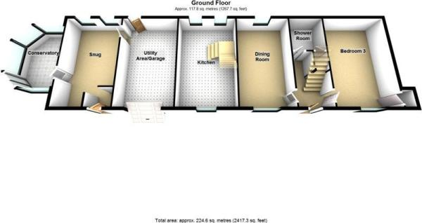 1- Ground Floor - 3D