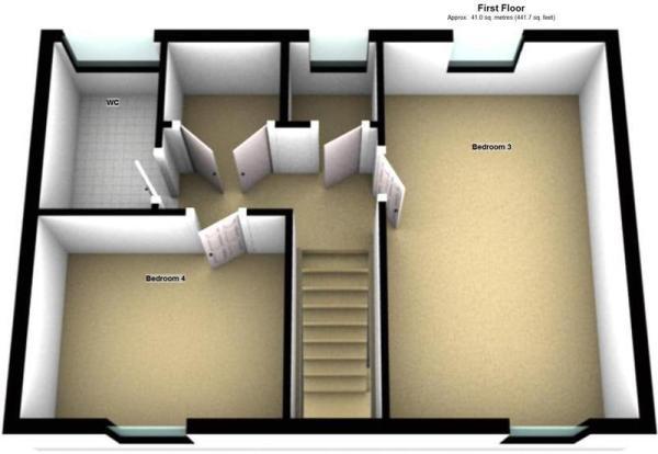 2 - First Floor - 3D