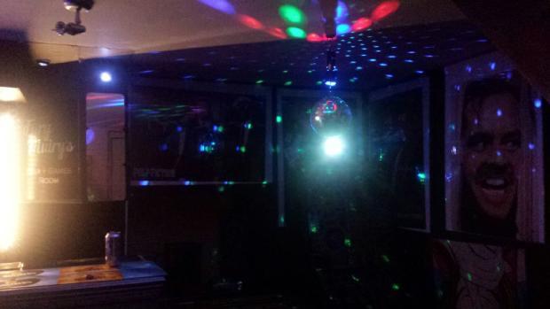 Bar at night