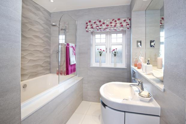 5 bedroom detached house for sale in nursery grange for Show home bathrooms