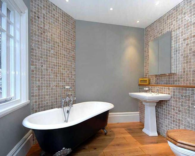Bath flooring bathroom design ideas photos inspiration for Bathroom floor ideas uk