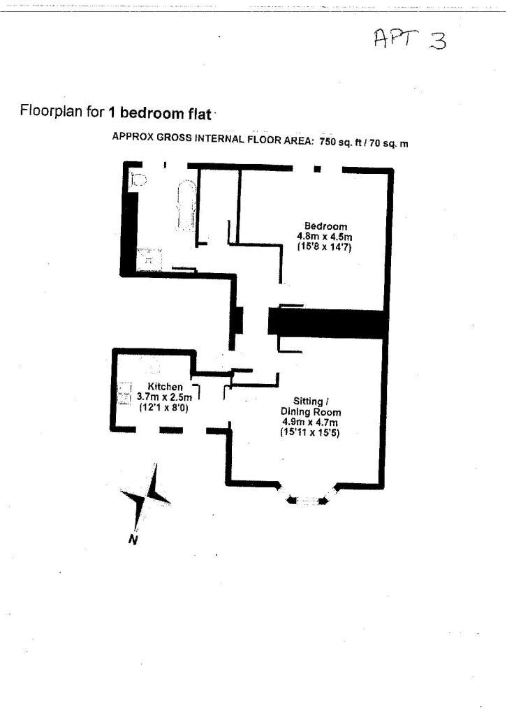 Apartment 3 Floor Plan