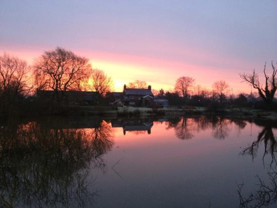 Sunset across the la