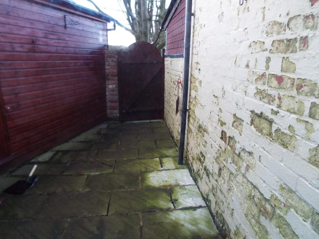 Stone patio rear yar