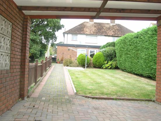 View from carport