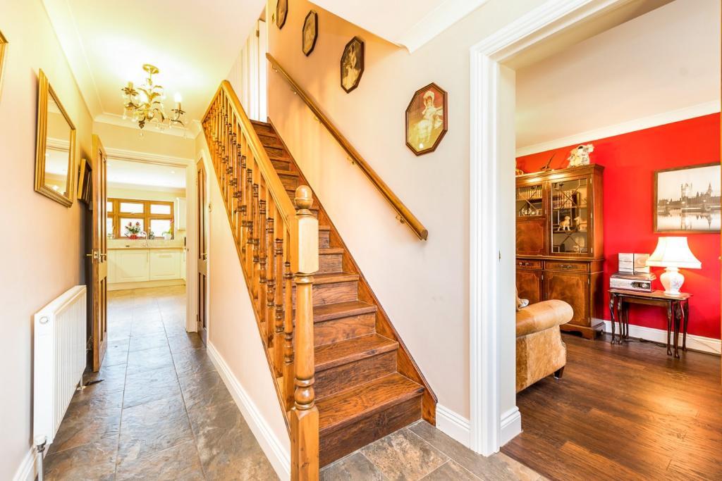 Hallway with study e