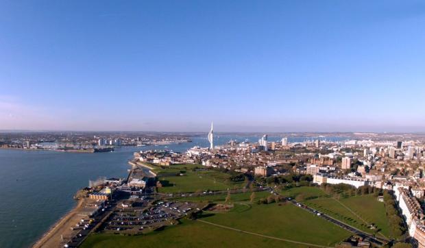 Aerial of Southsea &