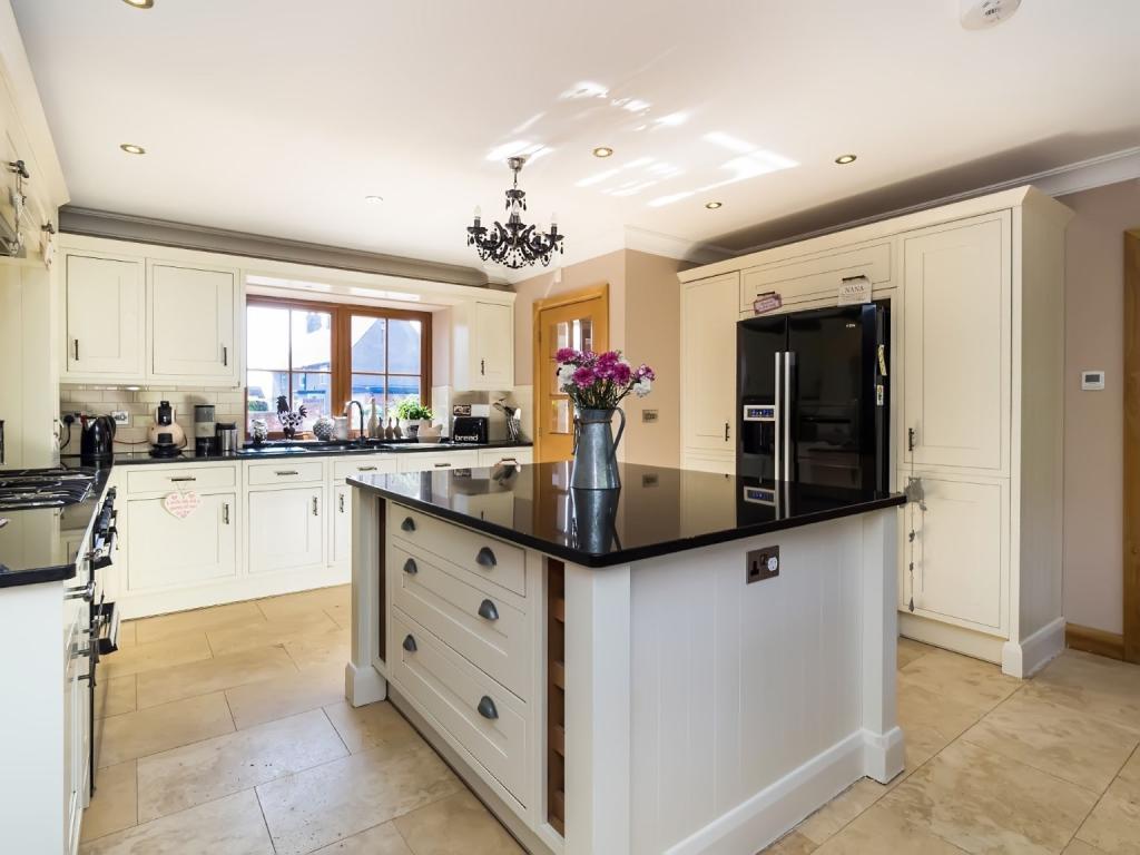 Open plan kitchen -