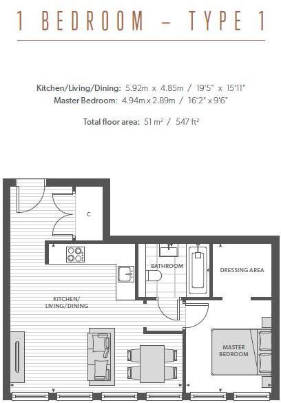 Type 1 Floorplan